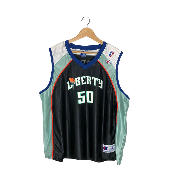 Vintage Champion WNBA New York Liberty Rebecca Lobo #50 Jersey - Women's XL