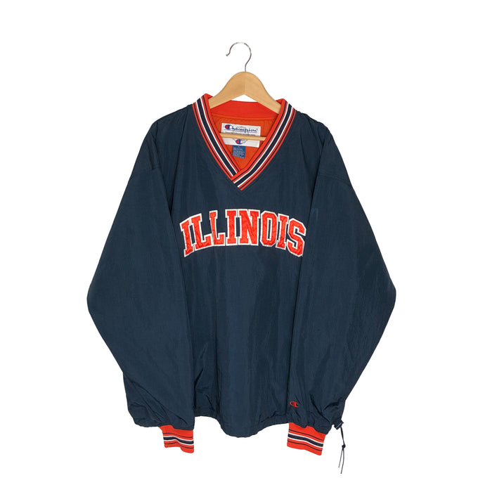 Vintage Champion Illinois Pullover Windbreaker - Men's XL