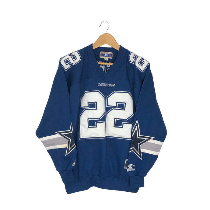 Vintage Starter Dallas Cowboys Emmitt Smith #22 Pullover Sweatshirt - Men's Medium