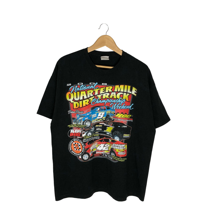 2008 Quarter Mile Dirt Track Racing T-Shirt - Men's XL