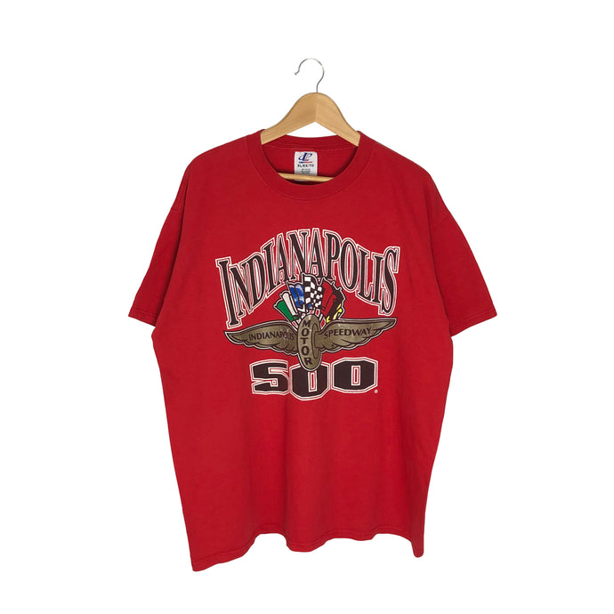 Vintage Logo Athletic Indianapolis 500 Racing T-Shirt - Men's XL