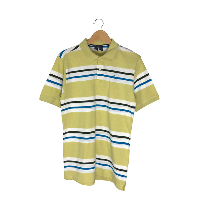 Nautica Striped Polo Shirt - Men's Medium