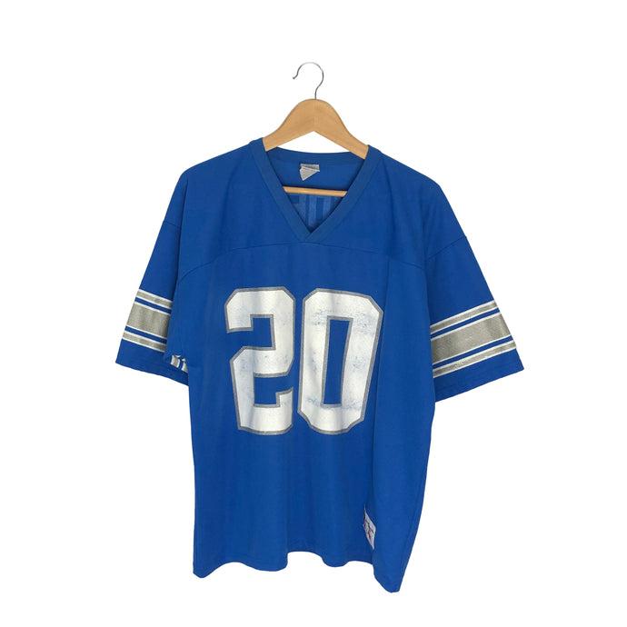 Vintage Logo 7 Detroit Lions Barry Sanders #20 Jersey - Men's Large