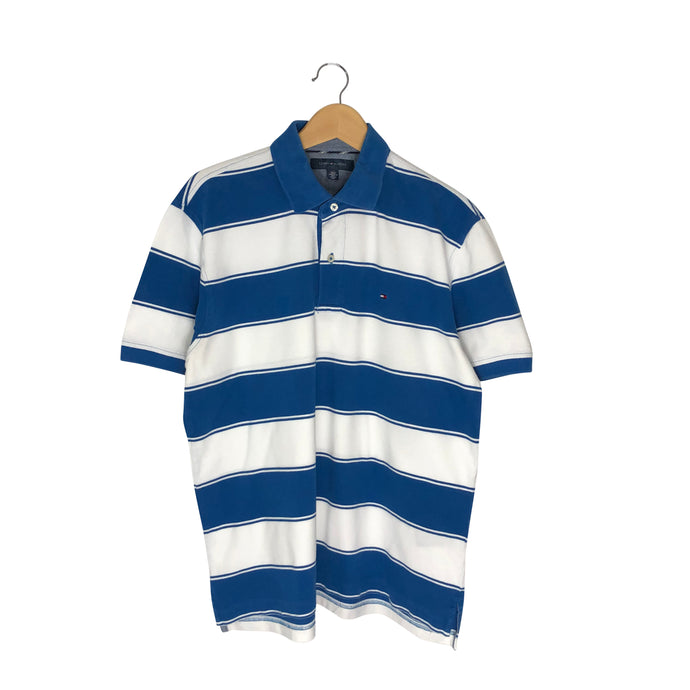 Tommy Hilfiger Striped Polo Shirt - Men's Large