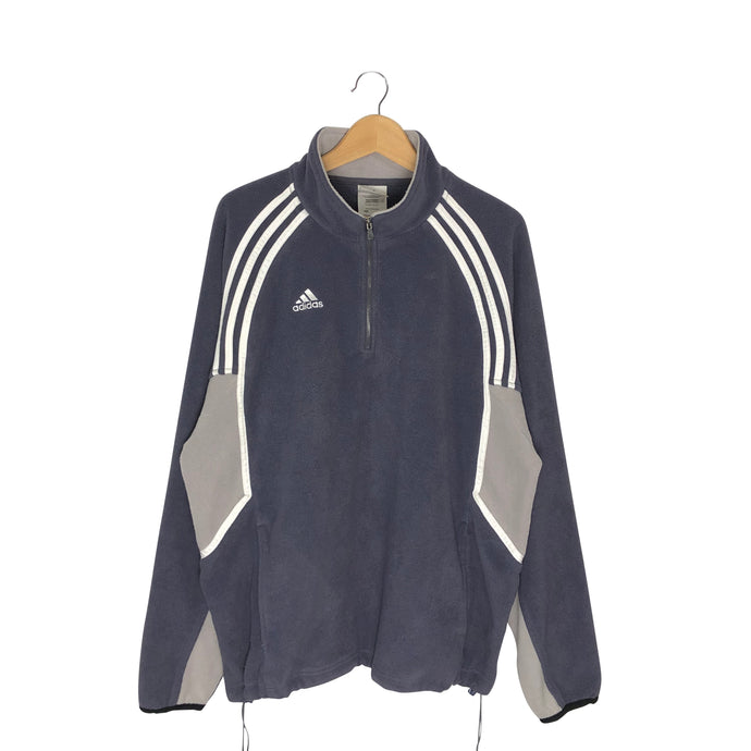 Vintage Adidas 1/4 Zip Fleece Pullover - Men's Large