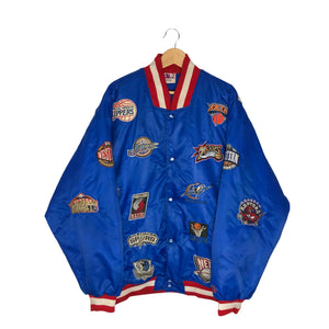 Vintage Rare NBA Team Patches Bomber Jacket - Men's 3XL