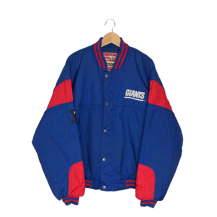Vintage Nutmeg Campri New York Giants Insulated Bomber Jacket - Men's XL