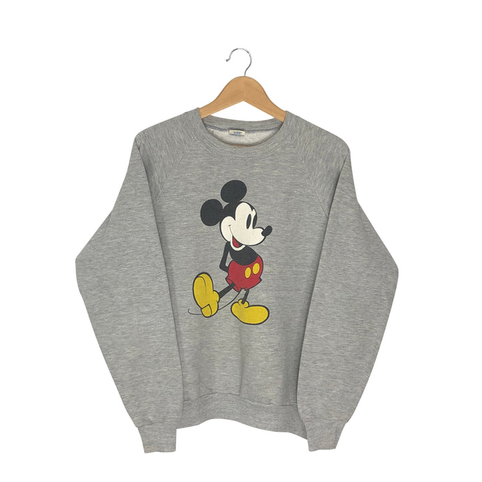 Vintage Mickey Mouse Pullover Sweatshirt - Women's Medium