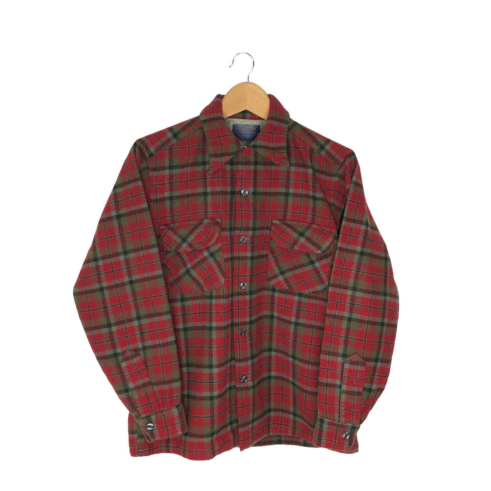 Vintage Pendleton Plaid Flannel Shirt - Women's Medium