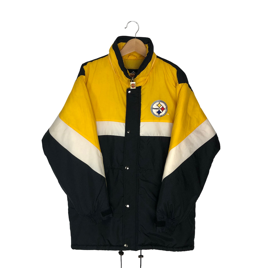 Vintage Pittsburgh Steelers Big Logo Insulated Coat - Women's Large