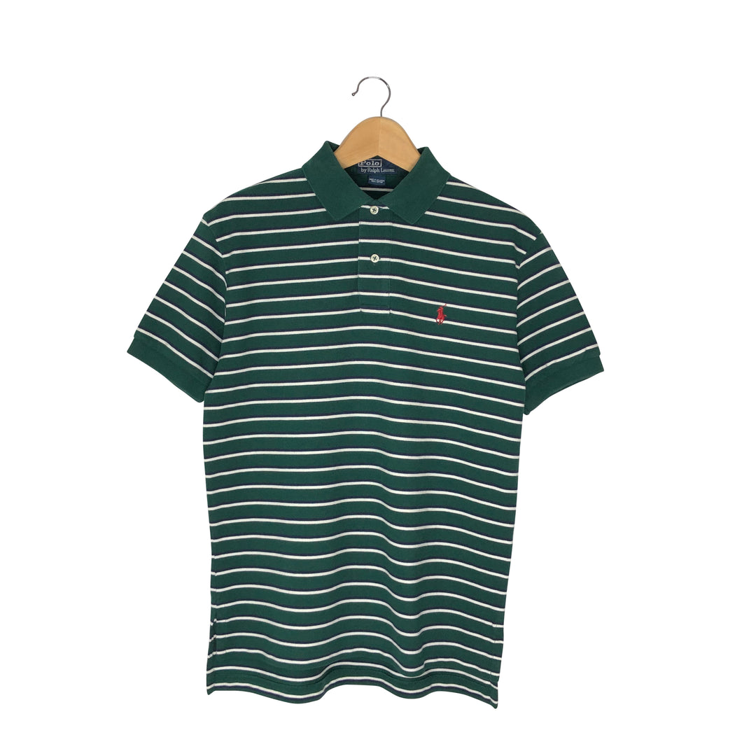Vintage Polo Ralph Lauren Striped Rugby Polo Shirt - Men's Small