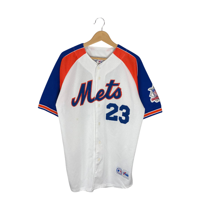 Vintage Majestic New York Mets Bernard Gilkey #23 Jersey - Men's Large