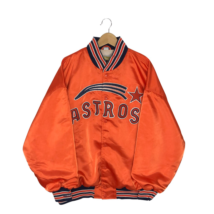 Vintage Rare 1971 Mitchell and Ness Houston Astros Satin Bomber Jacket - Men's 3XL