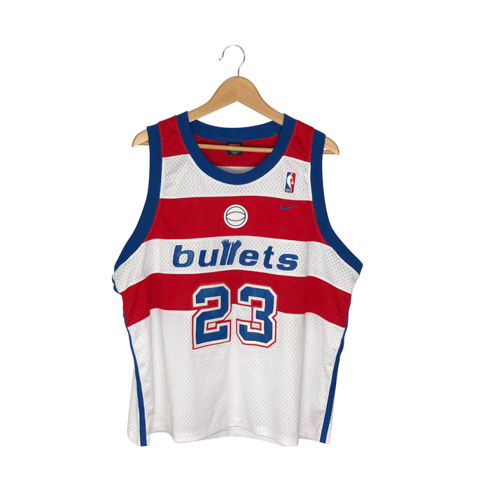 Vintage Rare Nike Washington Bullets Michael Jordan #23 Jersey - Men's XL