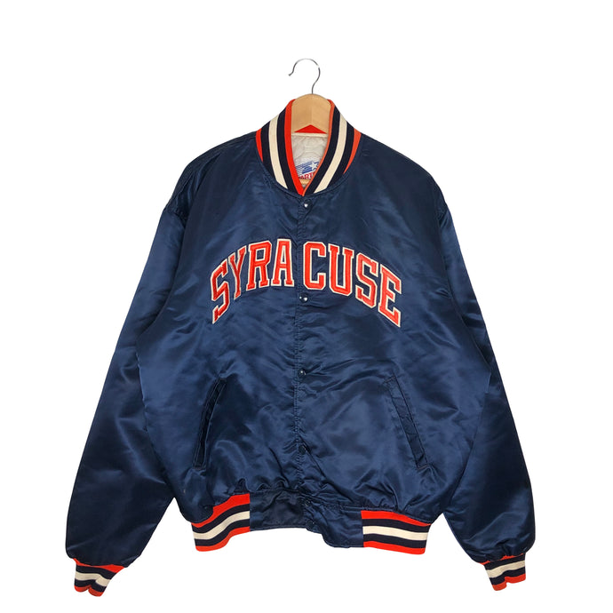 Vintage Starter Syracuse Satin Bomber Jacket - Men's 2XL