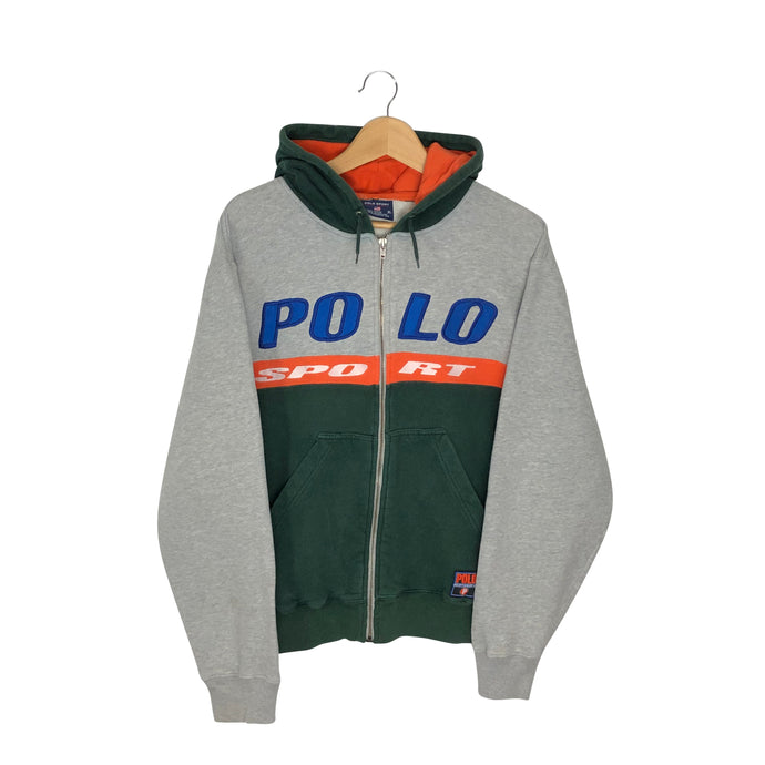 Vintage Polo Sport Spell Out Hoodie - Men's Small