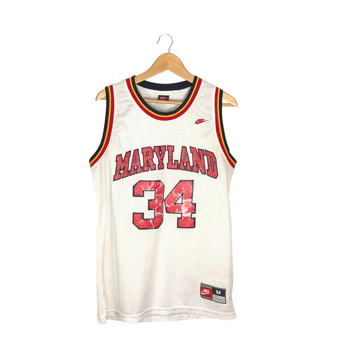 Vintage Nike Maryland Terrapins Len Bias #34 Stitched Jersey - Men's Medium