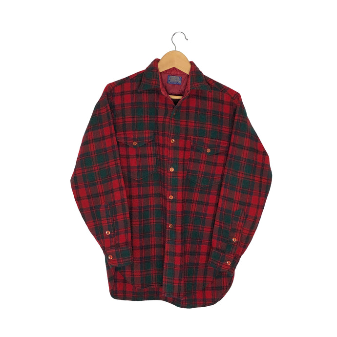 Vintage Pendleton Plaid Flannel Button-Up Shirt - Women's Medium