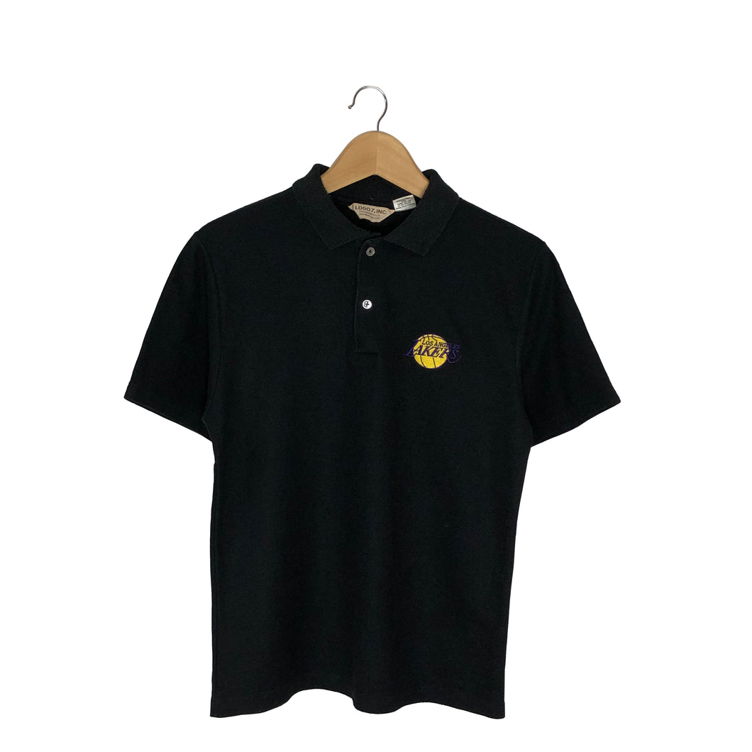 Vintage Logo 7 Los Angeles Lakers Rugby Polo Shirt - Women's Medium