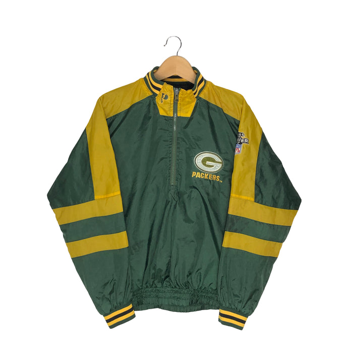 Vintage Pro Player Green Bay Packers 1/2 Zip Reversible Pullover Windbreaker - Men's Small