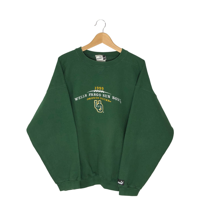 Vintage 1999 Puma Oregon Ducks Sun Bowl Pullover Sweatshirt - Women's 2XL