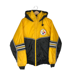 Vintage NFL Pittsburgh Steelers Insulated Jacket - Men's Medium