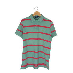 Vintage Polo Ralph Lauren Striped Rugby Polo Shirt - Men's Large