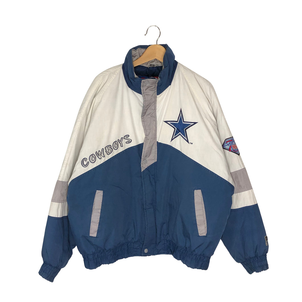 Vintage Rare 1994 Pro Player Dallas Cowboys Spell Out Insulated Jacket - Men's XL