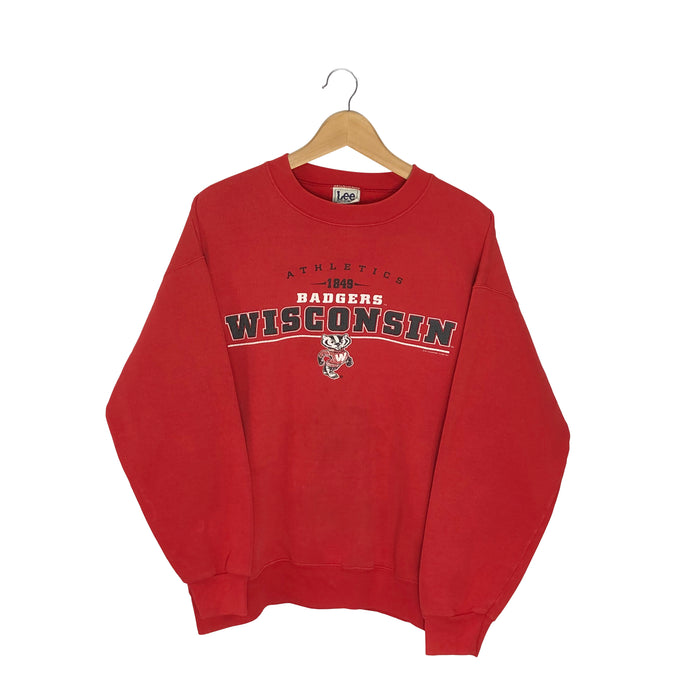 Vintage Lee Sport Wisconsin Badgers Pullover Sweatshirt - Women's Large