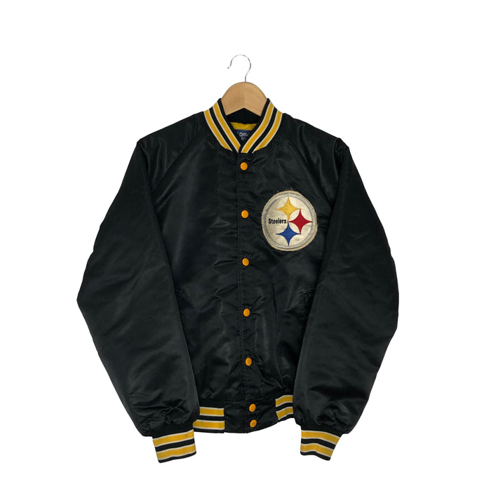 Vintage NFL Pittsburgh Steelers Satin Bomber Jacket - Men's Medium