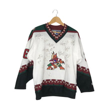 Load image into Gallery viewer, Vintage CCM Phoenix Coyotes Team Signed Kris Kolanos #36 Jersey - Men's Small