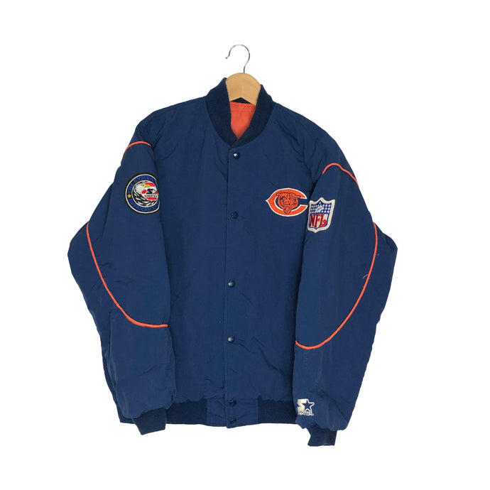 Vintage Starter Chicago Bears Insulated Bomber Jacket - Men's Medium