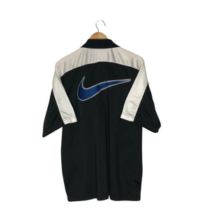 Vintage Nike Big Logo Short-Sleeve Track Jacket - Men's Large