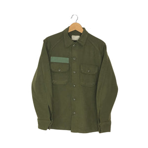 Vintage Wool Army Coat - Men's Small