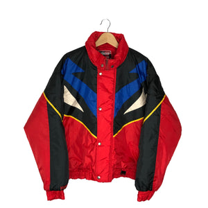 Vintage Yamaha Colorblock Insulated Jacket - Men's XL