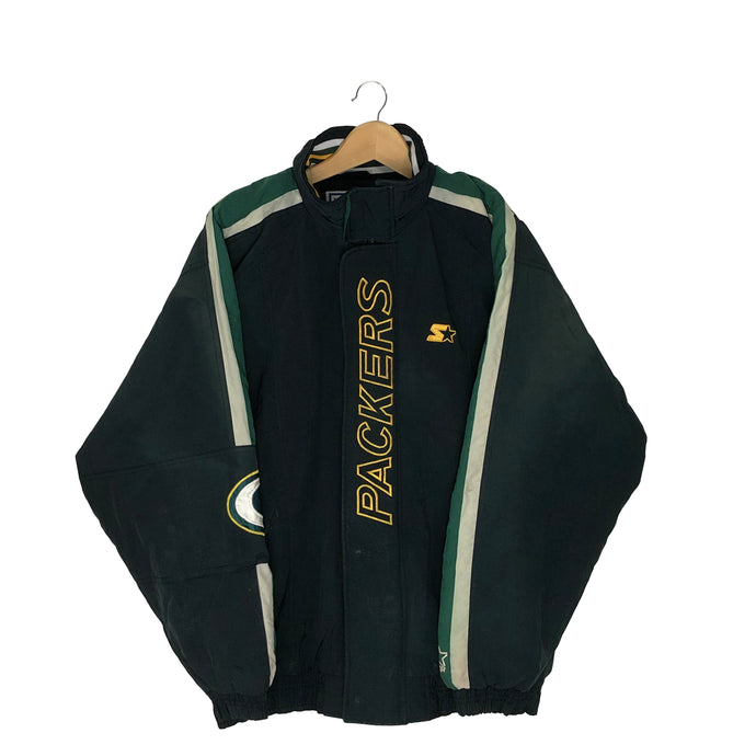Vintage Starter Green Bay Packers Insulated Jacket - Men's Large