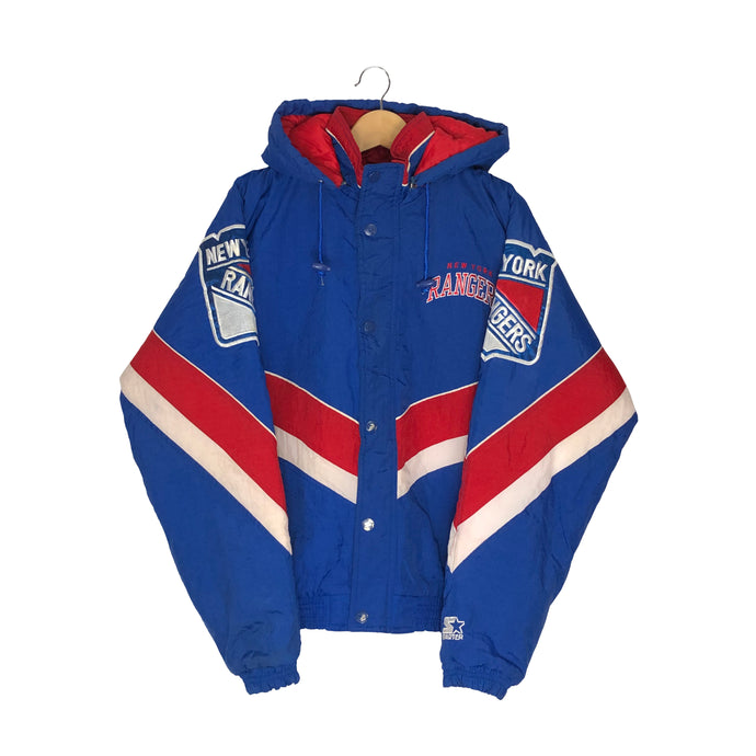 Vintage Starter New York Rangers Insulated Jacket - Men's Medium