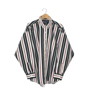 Vintage Chaps Ralph Lauren Striped Button-Down Shirt - Men's 2XL