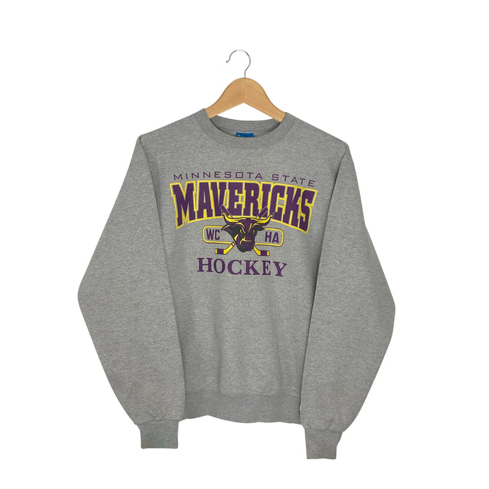 Vintage Champion Minnesota State Mavericks Hockey Sweatshirt - Men's Small