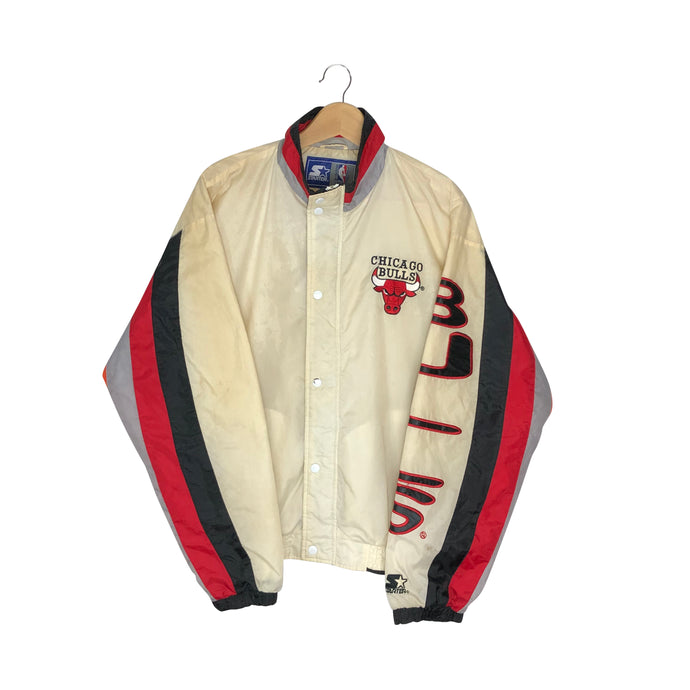 Vintage Starter Chicago Bulls Spell Out Colorblock Windbreaker - Men's Medium