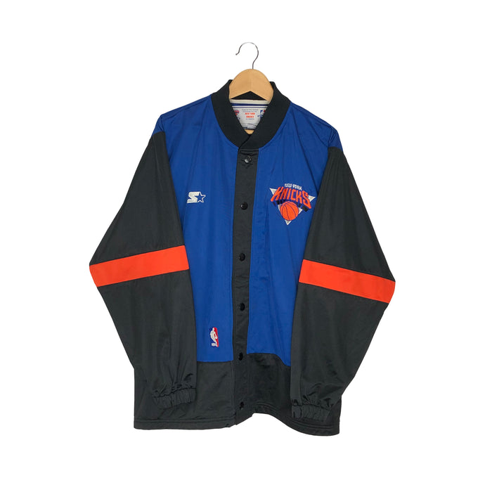 Vintage Starter New York Knicks Warm Up Track Jacket - Men's Large