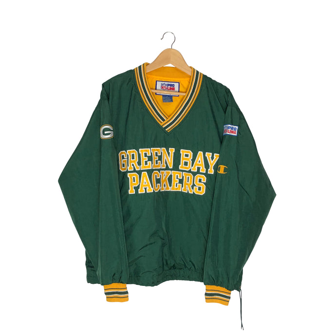Vintage Champion Green Bay Packers Pullover Windbreaker - Men's Medium