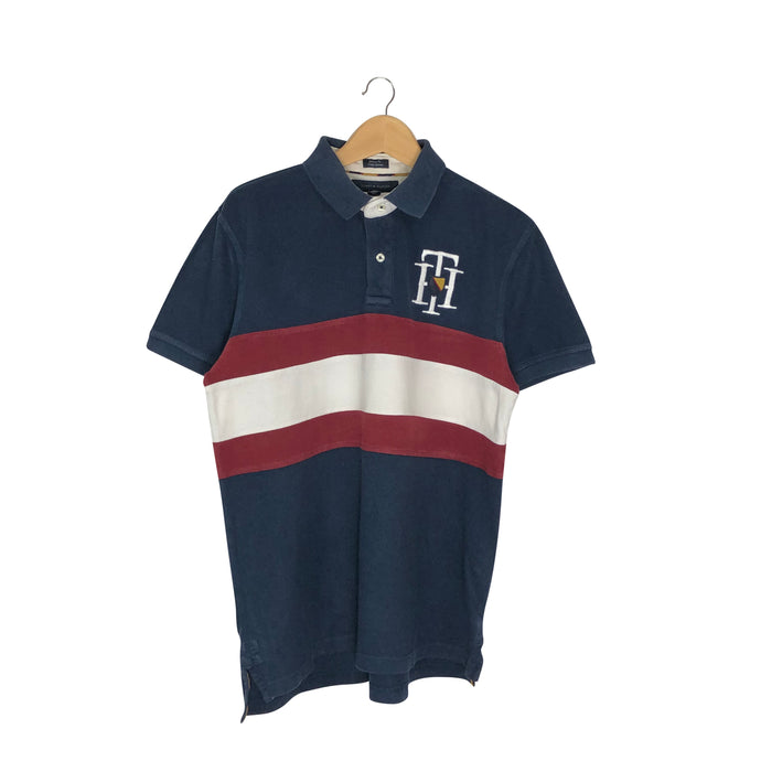 Tommy Hilfiger Rugby Striped Polo Shirt - Men's Large