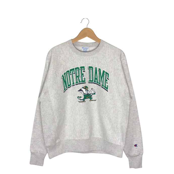 Vintage Champion Reverse Weave Notre Dame Sweatshirt - Men's Medium
