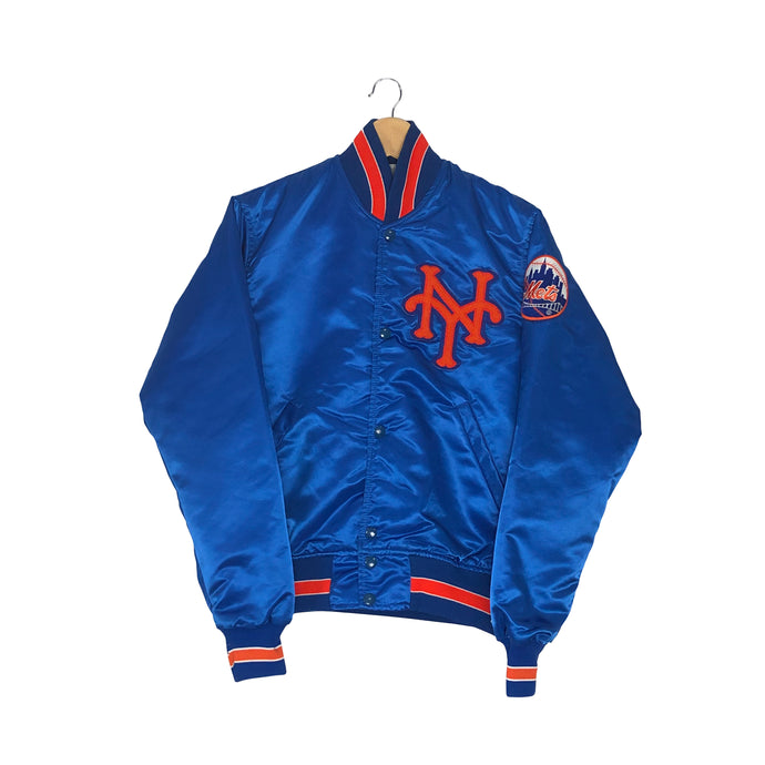 Vintage Starter New York Knicks Satin Bomber Jacket - Men's XS