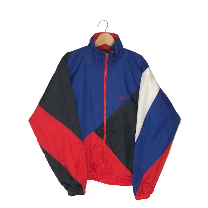 Vintage USA Olympics Colorblock Windbreaker - Men's Medium