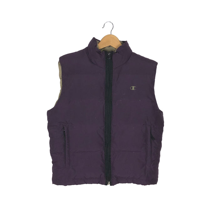 Vintage Champion Puffer Down Vest - Women's Medium