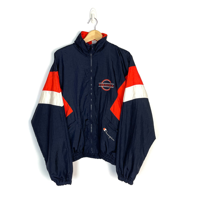 Vintage Champion Virginia Windbreaker - Men's Large