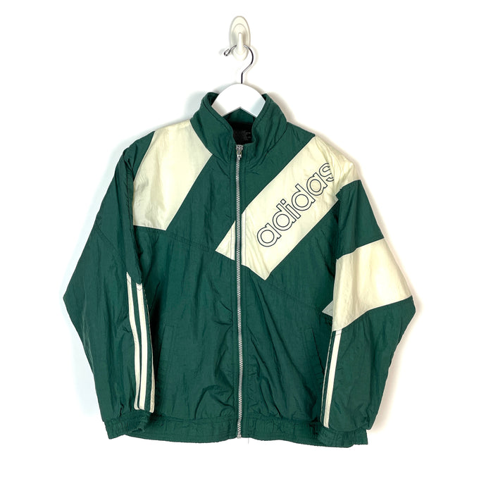 Vintage Adidas Spell Out Windbreaker - Women's Small