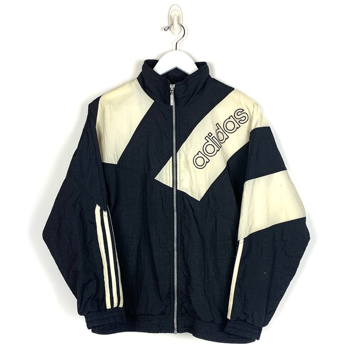 Vintage Adidas Spell Out Windbreaker - Men's Small